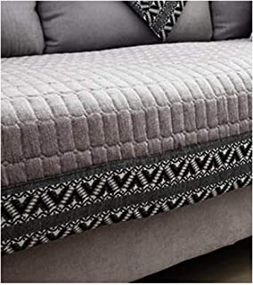 ZFADDS 1 Piece Sofa Cover Thick Soft Sofa Towel for Living Room Slip Resistant Slipcover Seat Couch Cover,Gray,70 70 cm