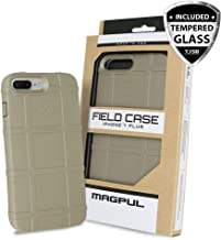Case for iPhone 7 Plus / iPhone 8 Plus, with TJS [Tempered Glass Screen Protector] Magpul [Field] MAG849-FDE Polymer Cover Retail Packaging (Flat Dark Earth)