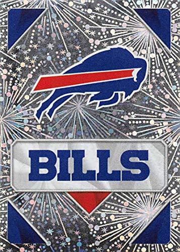 2020 Panini NFL Stickers Football #37 Buffalo Bills Buffalo Bills Foil Official Football Sticker Collection (Paper thin approx 1.5 x 2 inches)