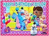 DOC MCSTUFFINS : Personalized edible image Birthday Party Cake topper decoration premium frosting sheets