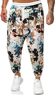 MakingDa Mens 3D Printing Lounge Harem Pants with Pocket Drawstring Hip Hop Dance Trousers Bloomers Bottoms Casual Sweatpants