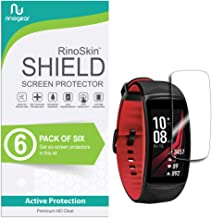 (6-Pack) RinoGear Samsung Gear Fit2 Pro Screen Protector Case Friendly Screen Protector for Samsung Gear Fit2 Pro Accessory Full Coverage Clear Film