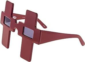 LINDA FARROW Jeremy Scott CROSS Dark Red Polarized Sunglasses JS/CROSS
