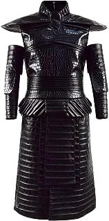 Mens Black Armor Battle Fullset Walker Outfit White Night Cosplay King Costume for Halloween
