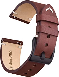 Ritche Quick Release Leather Watch Bands 18mm 20mm 22mm Genuine Leather Watch Strap for Men Women