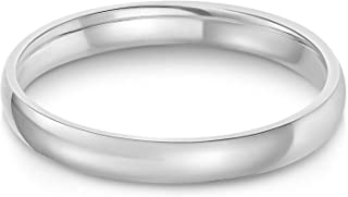 Ioka - 14k Solid Yellow OR White Gold 3mm Plain Comfort Fit Wedding Band