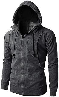 2019 Men Hoodies Sweatshirts Fashion Zipper Casual Slim Thin Tops Coat Long Sleeve Lightweight Jackets Outwear Pocket