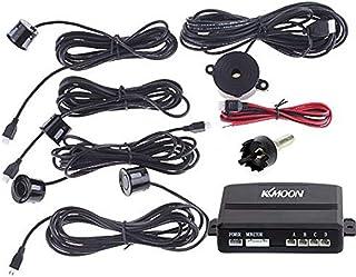 KKmoon Sistema de Aparcamiento Revés Reserva Alerta de Sonido + 4 Sensores (Negro)