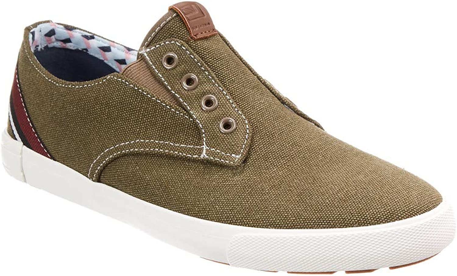 Ben Sherman Mens Percy Laceless Canvas Slip On Casual Sneakers