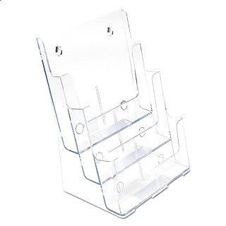 حامل كتيبات عمودي 3 صفوف من ديفليكتو 77301، مقاس 1/3 A4