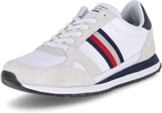 Tommy Hilfiger Runner Lo Leather Stripes, Righe in Pelle Uomo