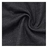 NAKAN Protective Material De Bloqueo De Señal De Tela De Fibra Plateada De Color Traje De Tela Conductora Antirradiación para Hacer Ropa De Embarazo, 1.5m De Ancho(Size:5mx1.5,Color:Negro)
