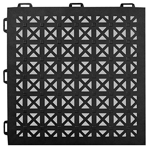 Greatmats StayLock Perforated Floor Tile 26 Pack (Black)