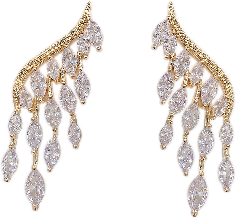 Gold Plated Drop Dangle Earrings - Opal Earrings Stud Gold Earrings - Pearl Hoop Earrings Dangle - Chain Earrings Hoops Stud Dangle Diamond Earrings - Pearl Drop Stud Earrings for Women