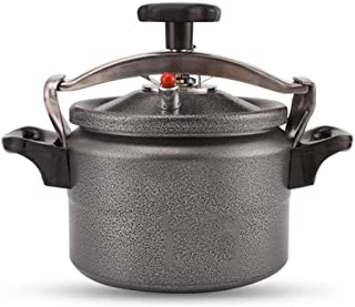 KJRJF Pressure Cooker Cookware Aluminum Alloy Explosion-proof Stainless Steel Pot Rice Cooking Stovetop Tool Outdoor Camping Travel (Color : Gray)