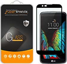 Supershieldz for (LG K10) Tempered Glass Screen Protector, (Full Screen Coverage) Anti Scratch, Bubble Free (Black)