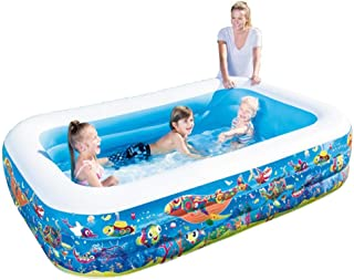 Voyoo Inflatable Pool Kids Pool Pools for Adults Pools for Kids Swimming Pool for Kids-Inflatable Swimming Pool Thick Safe Inflatable Pool- Summer Water Party Supply for Baby Kids Adult