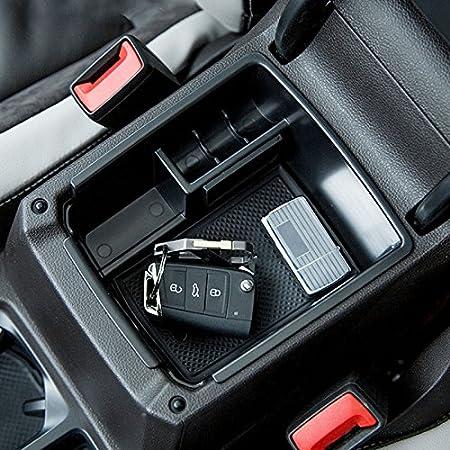 Mittelarmlehne Abdeckung Für Tiguan Armlehnen Box Mittelkonsole Schutz Kastendeckel Schwarz Auto