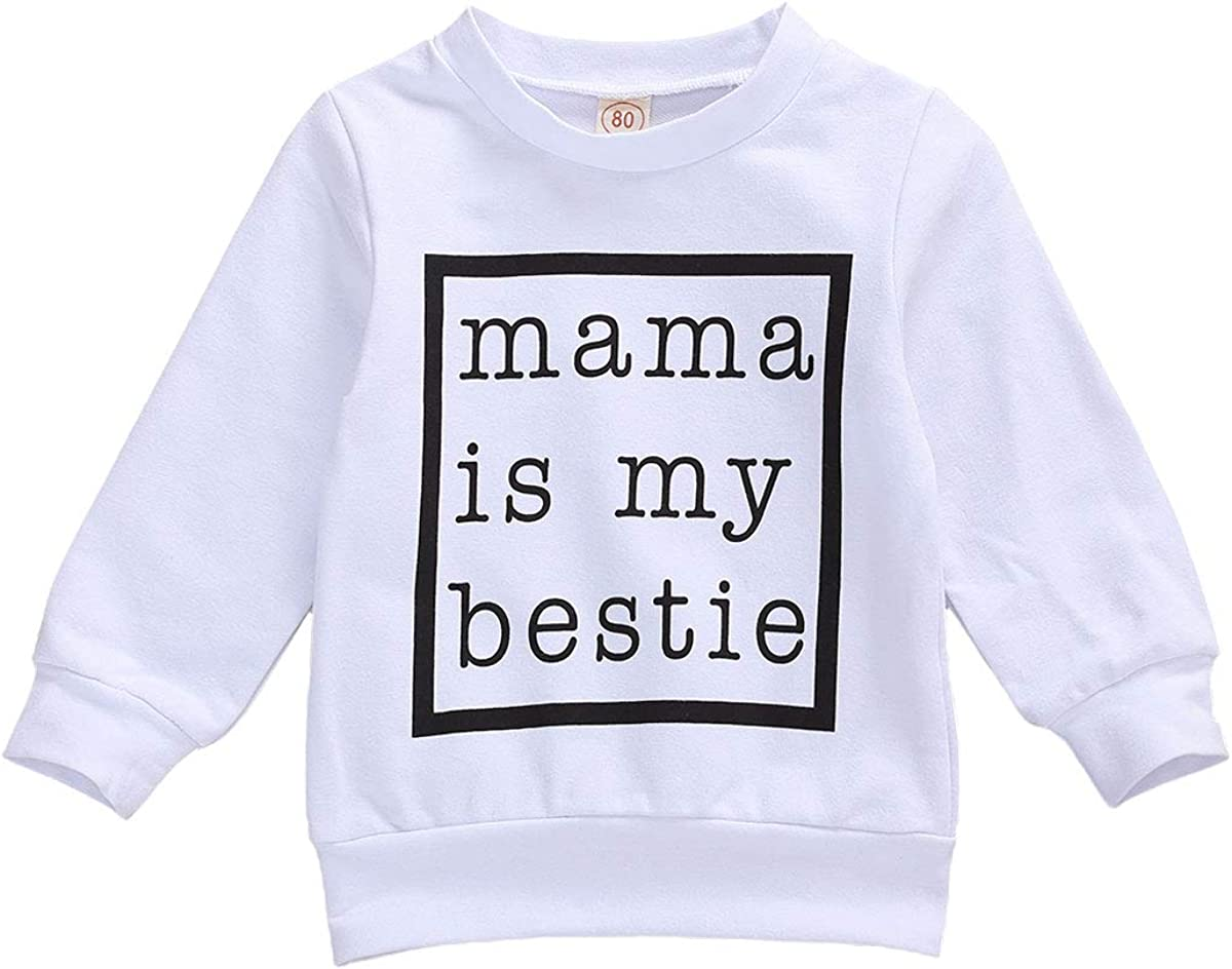 Toddler Baby Girls Print Sweater Shirts Blouse Pullover Tops Long Sleeve Crewneck Blouse Fall Winter Outfits