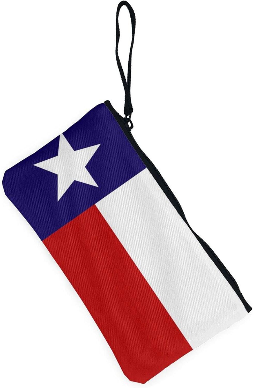 AORRUAM Texas Flag Canvas Coin Purse,Canvas Zipper Pencil Cases,Canvas Change Purse Pouch Mini Wallet Coin Bag