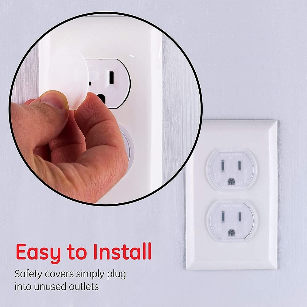 Outlet Plugs Baby Safety Protector Outlet Plug Covers, Clear Child Proof Caps Durable & Steady