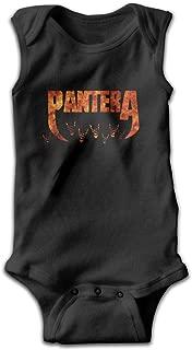 Pantera Logo Sleeveless Baby Boys Jumpsuit Cute Onesie Summer Bodysuits