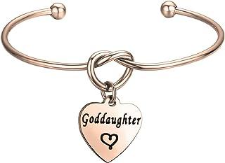 FEELMEM Godmother Bangle Bracelet,Goddaughter Bangle Bracelet, for Godmothers/Goddaughters