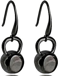 Fitness Inspirational Kettlebell Dangle Earrings For Women Stainless Steel Black/Silver/Gold-Color Cross Fit Gym Earrings Gift