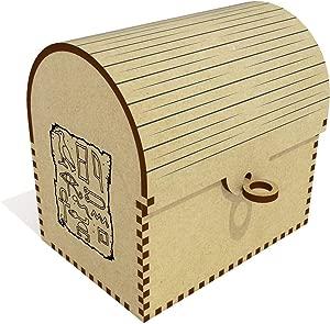 Azeeda  Egyptian Hieroglyph  Treasure Chest Jewellery Box  TC00040919