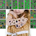 Luminous Halloween Temporary Tattoos for Kids?10 Sheet Temporary tattoo Stickers Spider Ghost Pumpkin Black Cat Decorations for Adult and Kids Gift, Halloween Fake Tattoos Glow Stickers for Dance Party Favors.