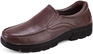 Mocassins hommes,Chaussures en cuir d'affaires décontractée Soft Shoes Flat Oxford For All Seasons,Black B-43/UK 8.5/US 9