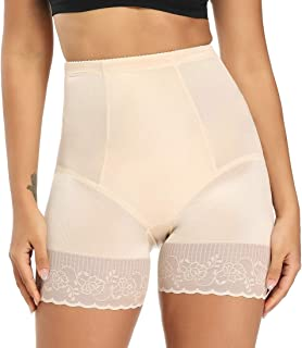 WOWENY Lace Shaper Shorts High Waisted Shapewear Tummy Control Panties Body Shaper for Women Plus Size