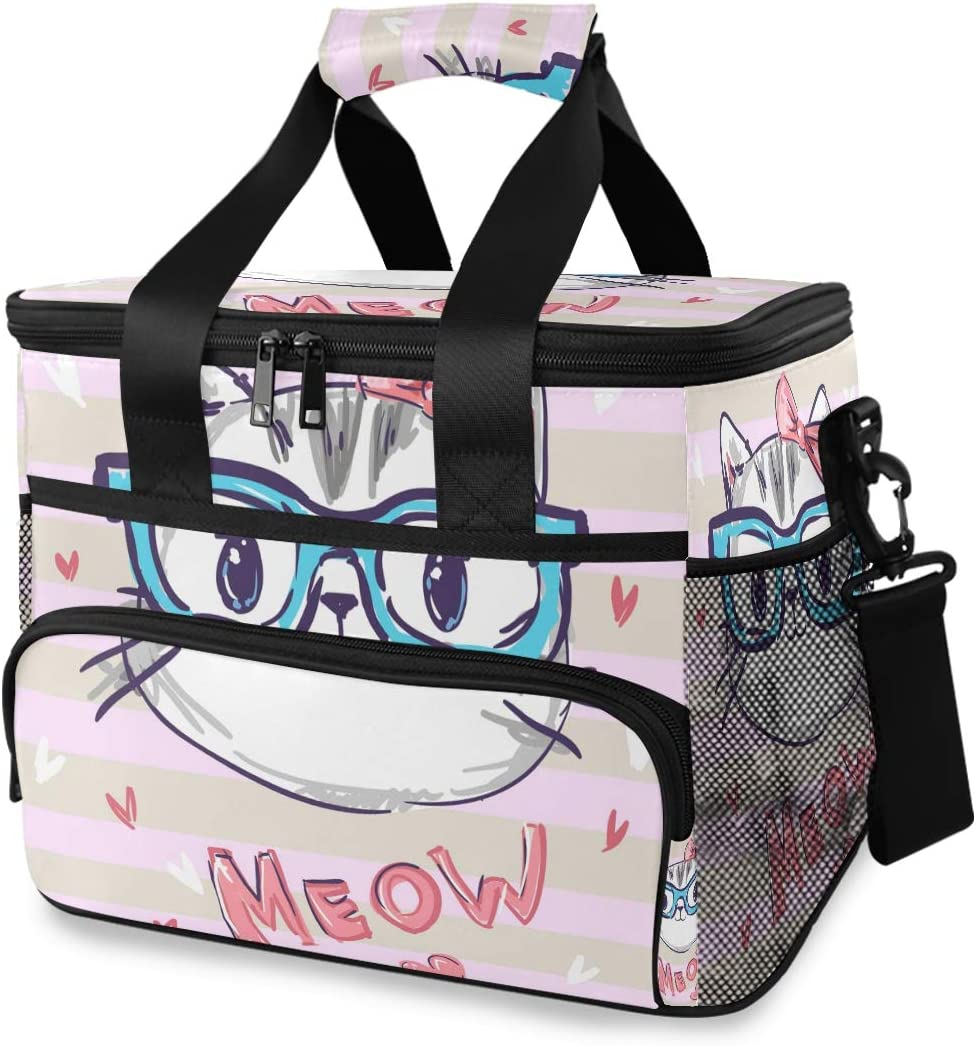 Popular popular TropicalLife Cooler Lunch Bag Cute Max 53% OFF Insulated Cat Box Meow