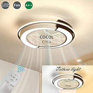 Ventilador LED Luz De Techo 36W Para Dormitorio Sala De Estar Comedor Ventilador De Techo Con Iluminación Control Remoto Silencioso Lámpara De Techo Regulable Con Velocidad De Viento Ajustable
