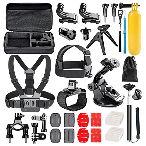 Followsun 38-in-1 Accessori per GoPro Hero (2019)/Fusion/Max/Hero 8 7 6 5 4 Session 3+ 3 2 1, Action Camera Accessori Kit per DJI OSMO Pocket AKASO Campark APEMAN Crosstour Sjcam Yi Victure