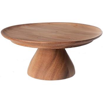 Chabatree ケーキスタンド 木製 S マリントピア アカシア 約直径16.5×高さ7cm フーテッドプレート アフタヌーンティー パーティー CU-028