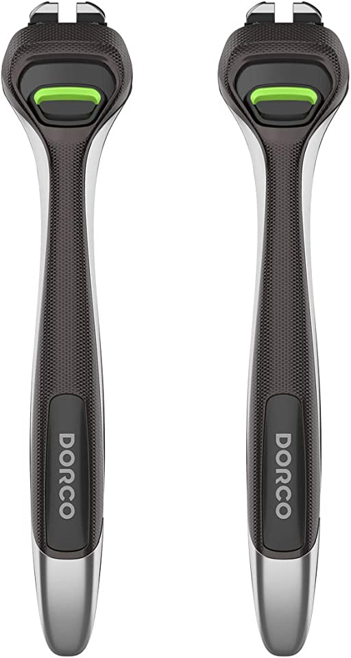 Dorco Pace 6 Pro - Six Blade Razor System with Trimmer - 2 Replacement Handles (Handles Only)