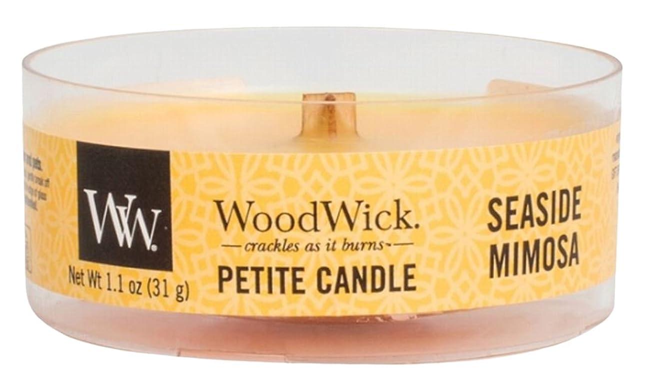 篭到着する視線Wood Wick ウッドウィック プチキャンドル ミモザ