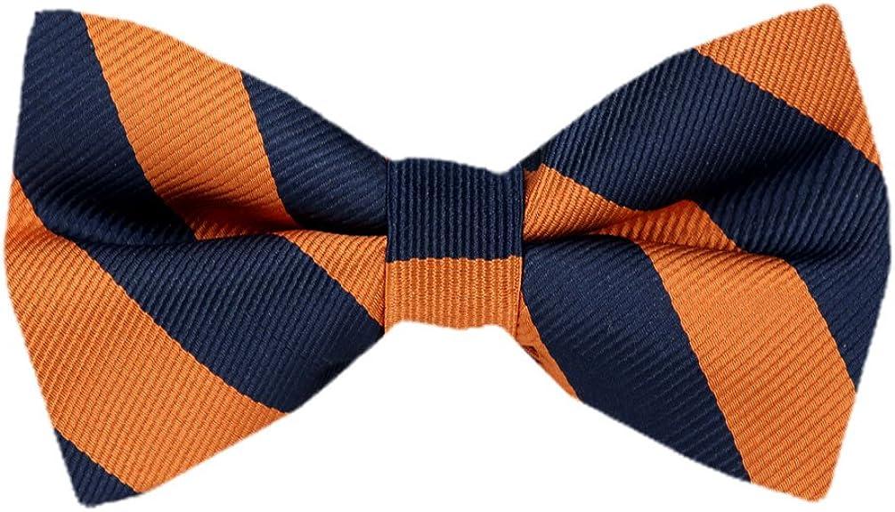 PBT-JCS-ADF-1-10 Men's College Repp Stripe Pre-tied Bow Tie