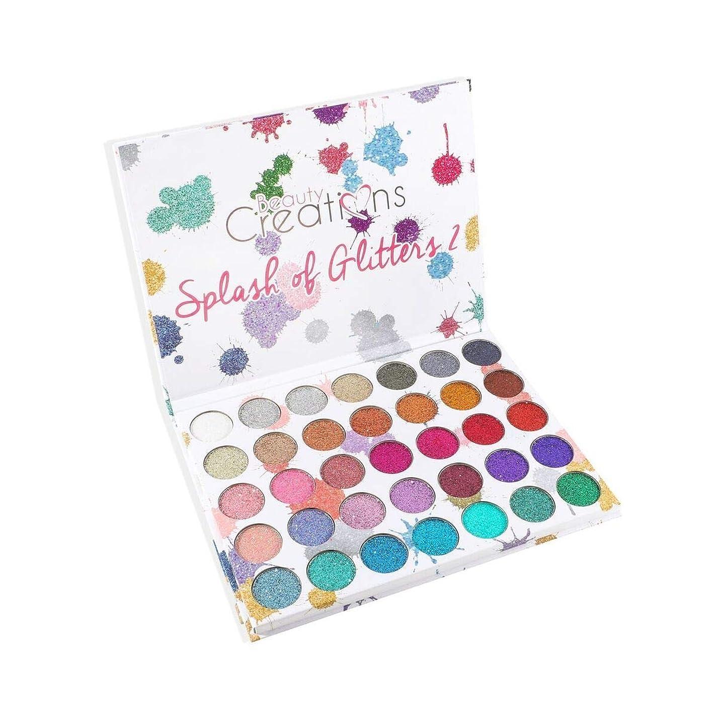 ミキサー幸福吹雪(3 Pack) BEAUTY CREATIONS Splash of Glitters 35 Color Palette 2 (並行輸入品)