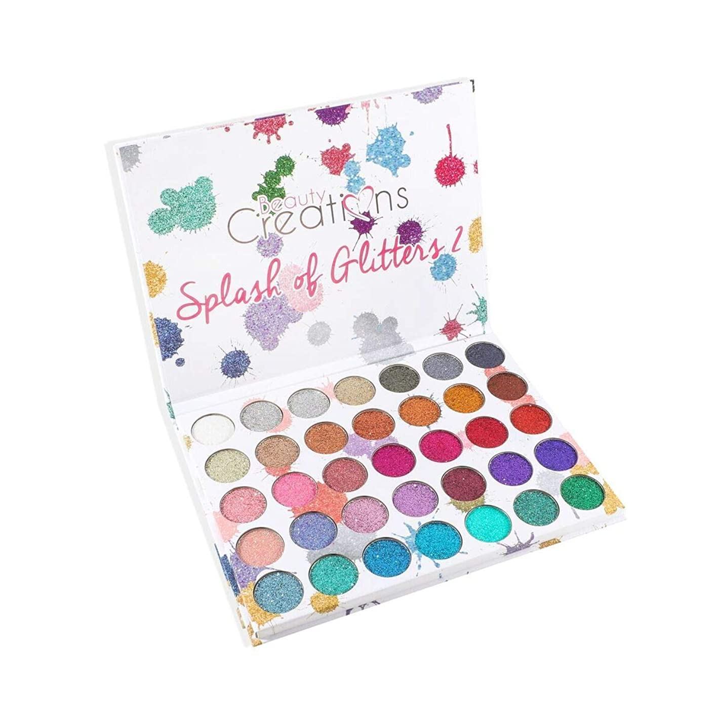 ギネスモード穏やかな(3 Pack) BEAUTY CREATIONS Splash of Glitters 35 Color Palette 2 (並行輸入品)