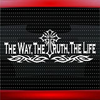 Noizy Graphics The Way, The Truth, The Life #1 Christian Car Sticker Truck Window Vinyl Decal Color: White