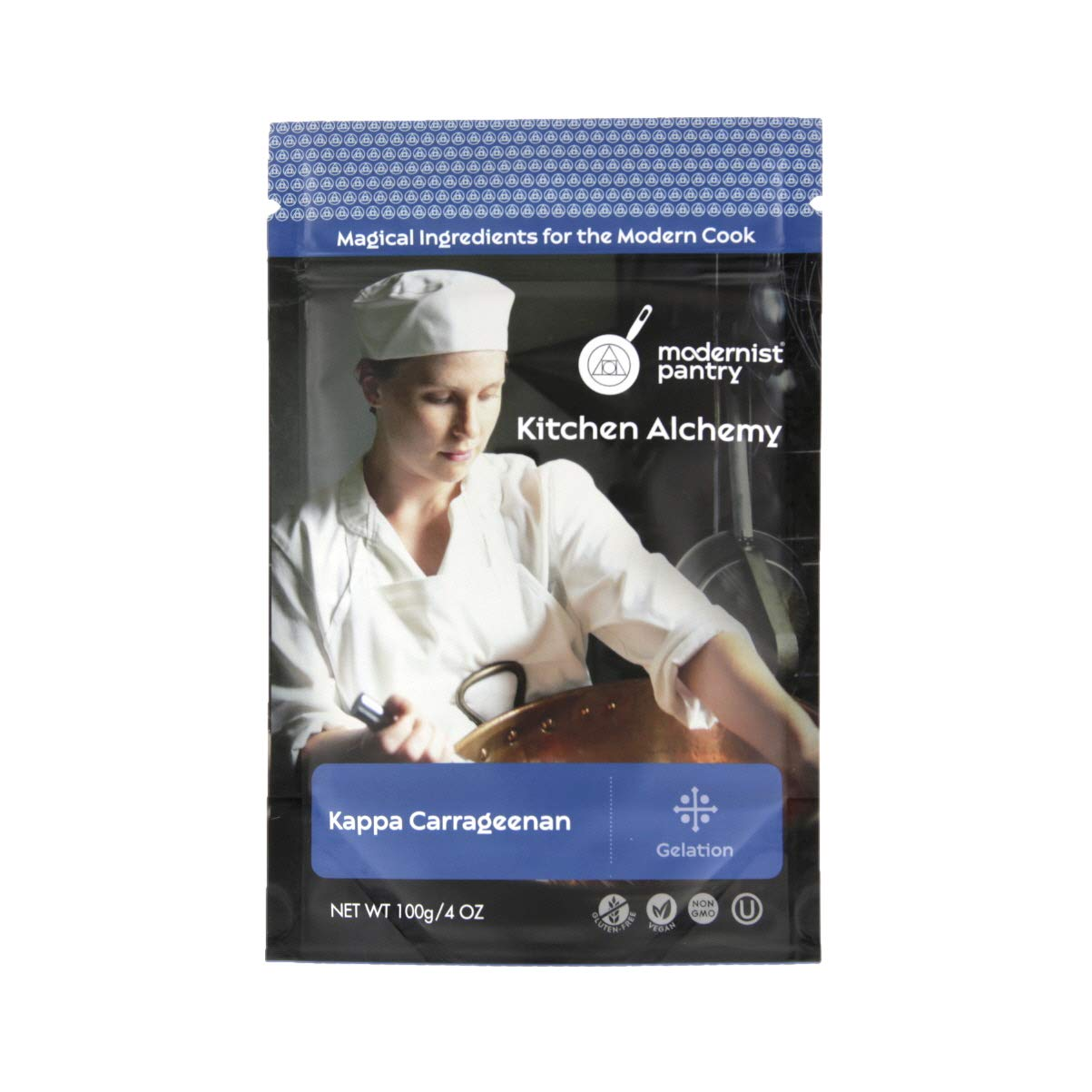 Pure Refined Kappa Carrageenan ⊘ Non-GMO ☮ Vegan ✡ OU Kosher Certified - 100g/4oz (The original recommended for Vegan Cheese)
