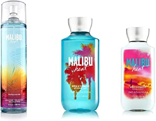 Bath & Body Works Malibu Heat Mist, Lotion and Shower Gel Set