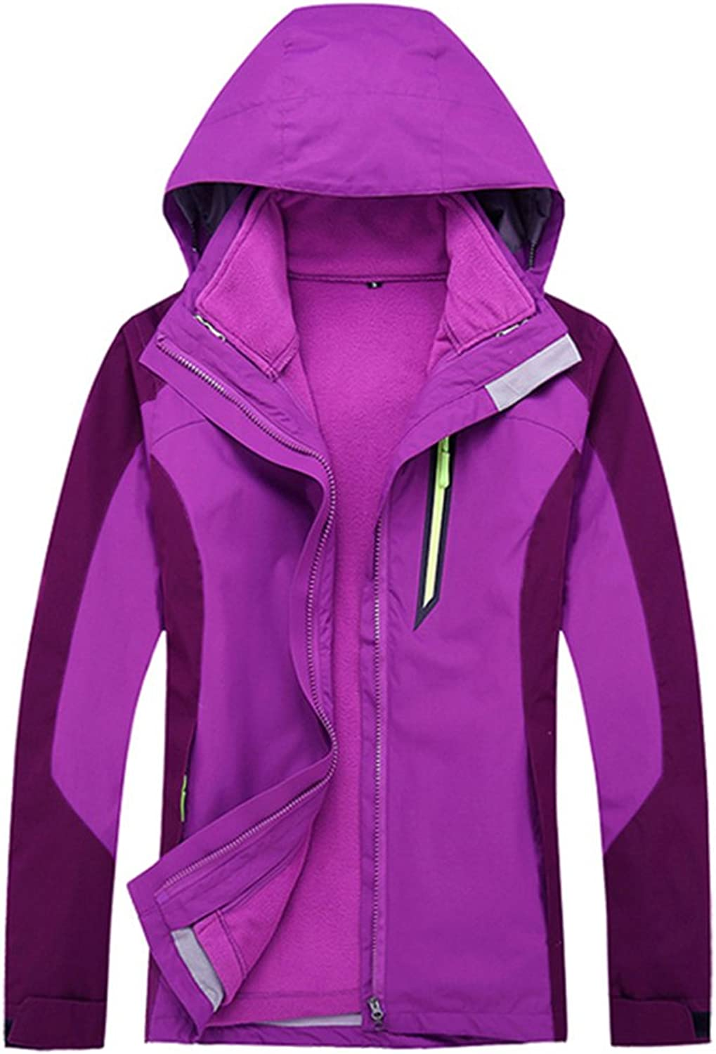 CIKRILAN Womens 3in1 Inner Fleece Jacket Stainproof Breathable AntiStatic Coats