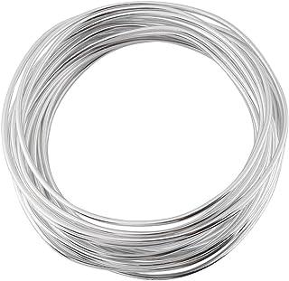 Aluminium knutseldraad, 5 meter/rol 2 mm meerkleurige ronde oxidatie aluminiumdraad, flexibel metaaldraad voor het maken v...