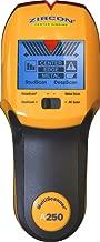 "Zircon Stud Finder Pro/DIY 4 in 1 MultiScanner A250 Wall Scanner; Stud/DeepScan Modes Detect Edges/Center of Wood/Metal to 1 ½"" Metal Mode Lath & Plaster AC Mode Detects Live, Unshielded AC US Model"