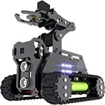 Gewbot RaspTank Robot Car Kit for Raspberry Pi 4 3 Model B+/B,WiFi Wireless Smart Tracked Robot with 4-DOF Robotic Arm,Ope...