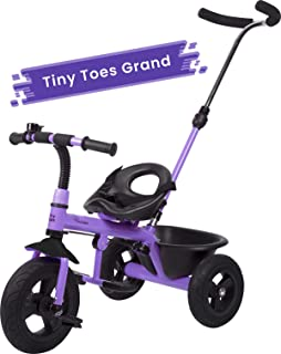 R for Rabbit Tiny Toes Grand Baby/Kids Cycle with Rubber Wheels - Smart Plug & Play Baby Tricycle for Kids/Baby for 1.5 to 5 Years (Purple)