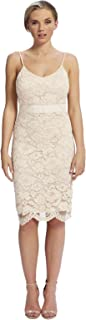 Forever Unique Casual Bodycon Dress For Women - Nude 10 UK